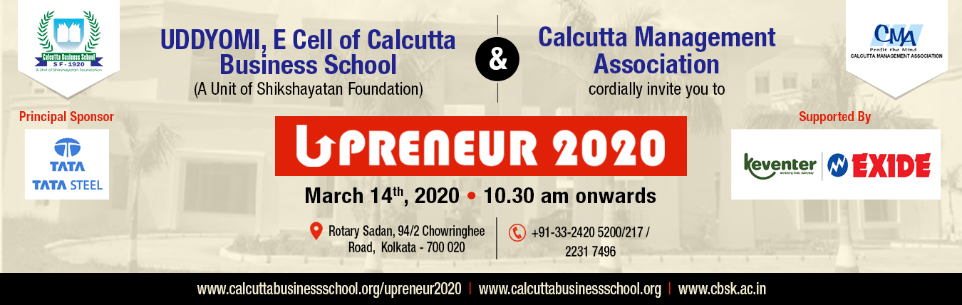 Calcutta business school banner